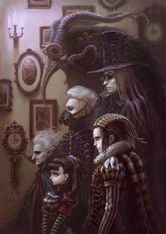 Illustrations by zhoujialin. illustrations by zhoujialin dark fantasy art Dark Fantasy Art, Fantasy Artwork, Dark Art, Fantasy Series, Arte Horror, Horror Art, Art Sinistre, Art Noir, Steampunk Artwork