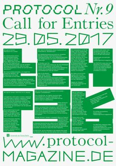elias-hanzer: Call for Entries, Protocol NR.9, Fehler...