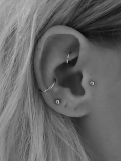 Details 🌠 Tragus piercing, rook piercing, conch piercing Related Blue OPAL Stud Barbell End /Cartilage Piercing - Custom Jewelry IdeasBlack and gray tattoos industrial barbell unique, . Medusa Piercing, Percing Tragus, Faux Rook Piercing, Piercing Nostril, Bijoux Piercing Septum, Spiderbite Piercings, Ear Piercings Chart, Different Ear Piercings, Ear Piercings