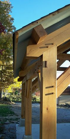 Outdoor Living - Timber Frame Pavilion - Timber Frame Porte-Cochere - Timber Frame Carport - Timber Frame Outdoor Living - Timber Frame Garage - Homestead Timber Frames - Crossville Tennessee