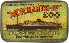 Gramophone Needle Tins | Planes Ships & Trains