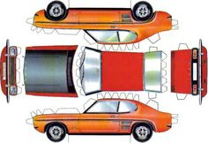 An easy-to-build paper model of the 1969`s Ford Capri Mk I, by Capri Schweiz Switzerland website. Description from papermau.blogspot.mx. I searched for this on bing.com/images