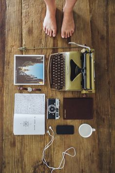 athenagracee: a watch to number my days. headphones to sing His praise. a cup to drink in remembrance. a journal to write out His truths. a camera to document His beauty. a typewriter to captivate the attention of hipster tumblrs to point them back to their Creator.