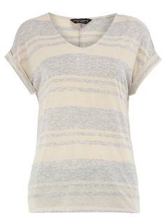 grey/oat short-sleeve t-shirt : dorothy perkins