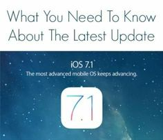 IOS 7.1: What You Need to Know | Work + Money - Yahoo Shine