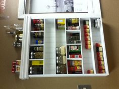Spice organization - turn an old medicine cabinet into a spice rack.