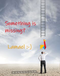 Sometimes, it is only a small piece, that is missing. Lamael is a valuable piece of the business puzzle. Let's try it right now! Something Is Missing, Lets Try, Puzzle, Let It Be, Business, Movies, Movie Posters, Puzzles, Films
