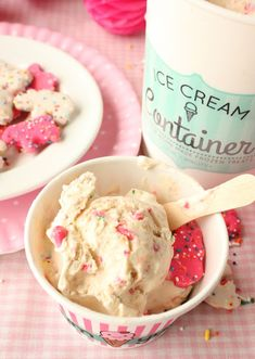 Homemade Circus Animal Cookie Ice Cream: Delicious and fun! No ice cream machine needed!