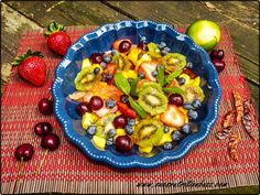 Sweet & Tangy Chili Lime Fruit Salad...
