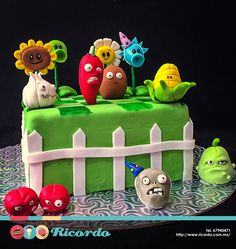 #MiercolesDeGaleria  Plantas vs Zombies  Un delicioso pastel de fondant para los… Plants Vs Zombies, Zombies Vs, Zombie Birthday Parties, Zombie Party, Boy Birthday, Plant Zombie, Novelty Cakes, Cakes For Boys, Jack Skellington