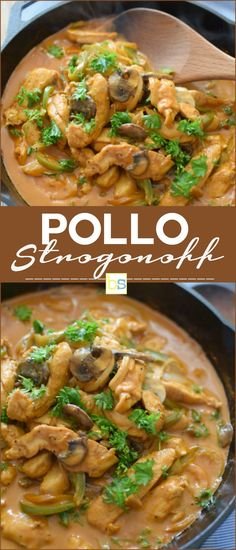 Pollo strogonoff fácil - So Tutorial and Ideas Kitchen Recipes, Cooking Recipes, Healthy Recipes, Pasta Recipes, Chicken Recipes, Fish Recipes, Deli Food, Salty Foods, Love Food