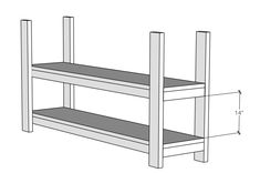 Flip shelf and attach the other two legs. Diy Furniture Plans, Diy Furniture Projects, Woodworking Furniture, Diy Wood Projects, Rustic Furniture, Plywood Furniture, Painted Furniture, Modern Furniture, Furniture Design