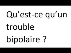 Qu'est-ce qu'un trouble bipolaire ? Health, Youtube, Bipolar Disorder, Salud, Health Care, Healthy, Youtubers, Youtube Movies