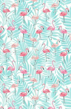 Flamingo Wallpaper, Summer Wallpaper, Wallpaper Decor, Screen Wallpaper, Pattern Wallpaper, Bedroom Wallpaper, Phone Backgrounds, Wallpaper Backgrounds, Iphone Wallpaper