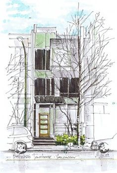 Marvelous Home Design Architectural Drawing Ideas. Spectacular Home Design Architectural Drawing Ideas. Grey Interior Design, Interior Sketch, Interior And Exterior, Landscape Sketch, Landscape Drawings, Landscape Design, Architecture Student, Architecture Drawings, Interior Architecture