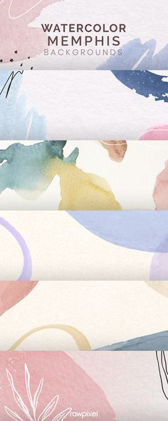 Wallpaper Backgrounds, Wallpapers, Memphis Pattern, Background Decoration, Pastel Shades, Pattern Background, Watercolor Sketch, Design Set, User Experience