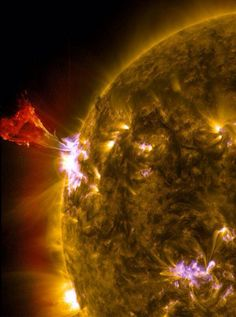 A solar flare, as captured by NASA