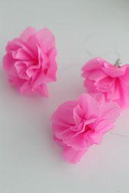 p i i p a d o o: Helpot kreppipaperikukat - ohje Origami, Easter, Diy Crafts, Stud Earrings, Floral, Flowers, Sunnuntai, Jewelry, Jewlery