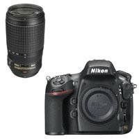 """Nikon D800 Digital SLR Camera Body, USA Warranty - Bundle - with Nikon 70-300mm f/4.5-5.6G ED-IF AF-S VR Lens - Nikon USA Warranty by Nikon. $3186.95. The Nikon D800 is a 36.3MP professional HDSLR that breaks new ground in resolution and metering technology. More than an upgrade to the just-discontinued 12MP D700, the D800 is a major overhaul. Unlike the D700, which was positioned as a """"prosumer"""" camera, the Nikon D800 is definitely geared towards pro users especial..."""