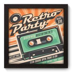 Quadro Decorativo - Retro Party - 020qdv