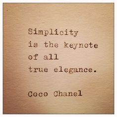 Coco Chanel: Simplicity