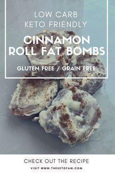 Cinnamon Roll Fat Bombs - Low Carb, Keto, Gluten Free, Grain Free