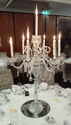 Wedding and event decoration hire in Sydney. Wedding styling in Sydney. Candleabra Wedding Centerpieces, Candelabra Centerpiece, Crystal Candelabra, Rustic Centerpieces, Table Decorations, Wedding Hire, Wedding Table, Wedding Reception, Wedding Stuff