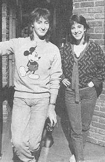 Martha with Julian Lennon - March 26th 1985