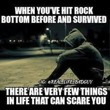 I hit that point and survived. I realize that the people who matter are the ones who are around, and stood by me.