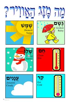 JECC Marketplace - Weather - Hebrew Weather Poster (C-6), $5.00…