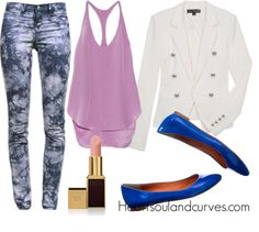 """""""How To Wear Floral Pants"""" by adoremycurves on Polyvore"""