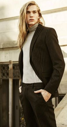 Long hairstyle and fashion. Emil Andersson