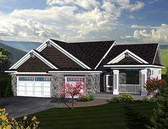 Plan W89846AH: Craftsman Ranch Home Plan split bedroom 1867
