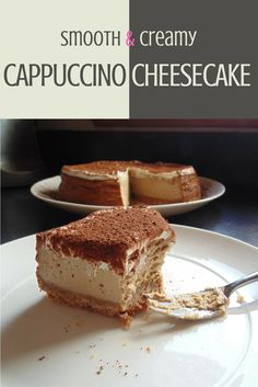 a rich baked cheesecake with a delicious coffee flavour, creamy topping, and cocoa-dusted for decoration, like a classic cappuccino! Coffee Cheesecake, Cheesecake Recipes, Dessert Recipes, Maltesers Cheesecake, Just Desserts, Delicious Desserts, Yummy Food, Guava Desserts, Digestive Biscuits