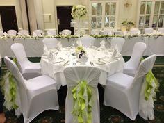 Crisp white. & green wedding