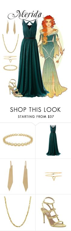 """""""Merida Inspired Prom Outfit"""" by pie-epic ❤ liked on Polyvore featuring Tiffany & Co., Jason Wu, Monique Péan, Natalie B, Everlasting Gold and Valentino"""