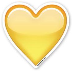 Yellow Heart | Emoji Stickers
