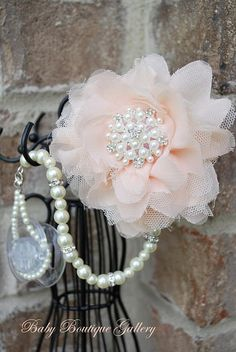 Baby Boutique 4in1 Beaded Pacifier Holder by BabyBoutiqueGallery, $29.99 - I have to get this for my niece