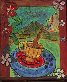 Kona Painting 8x10 on streched canvas by DharmaandDreams on Etsy