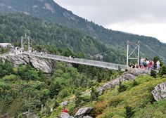 20. Live a little and conquer your fears on the Mile High Swinging Bridge at Grandfather Mountain.