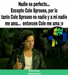 Read 8 1 from the story Memes de Riverdale uwu by LylaHernandezZ (☉ sUn ☉) with reads. Cole Sprouse Snapchat, Cole M Sprouse, Cole Sprouse Jughead, Dylan Sprouse, Memes Riverdale, Riverdale Funny, Riverdale Cast, Dakota Blue Richards, Zack Y Cody