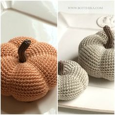 Crocheted pumpkin ornament Pumpkin Ornament, Crochet Pumpkin, Crochet Hats, Beanie, Ornaments, Knitting Hats, Beanies, Christmas Decorations, Ornament