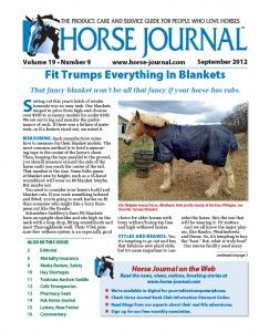 ...Check out the article in the Sept article of Horse Journal on how we were awarded Editor's Choice Award for our Phlegon Heavyweight Turnout!!! If your not a subscriber, sign up now...