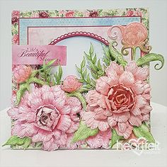 Beautiful Moments - created w/ the Sweet Peony collection from HeartfeltCreations #HeartfeltCreations #peony #cardmaking