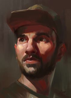 ArtStation - Self portrait, Antonio Stappaerts Painting Inspiration, Art Inspo, Self Potrait, Portrait Illustration, Male Face, Character Art, Digital Art, Graphic Design, Drawings