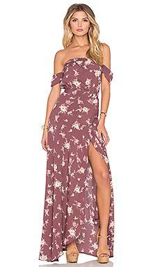 FLYNN SKYE Bella Maxi Dress in Dangling Bouquet