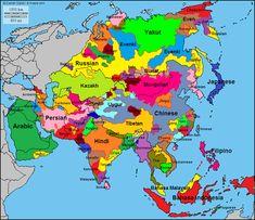 Asian Cultures Map
