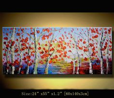 Original Abstract Painting Modern Thick Textured Painting Impasto Landscape Textured Modern Palette Knife Painting, on Canvas byChen m026 on Etsy, $328.00