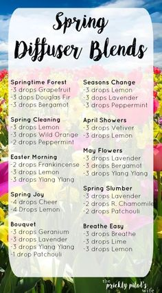 Spring Diffuser Blends to Make Any Home Smell Lovely List of tried and true Spring Diffuser Blends! Make your home smell clean, fresh, floral, or like sunshine with doTERRA Essential Oils. Essential Oil Diffuser Blends, Essential Oil Uses, Doterra Essential Oils, Doterra Diffuser, Doterra Blends, Wild Orange Essential Oil, Aromatherapy Recipes, Aromatherapy Oils, Essential Oil Combinations