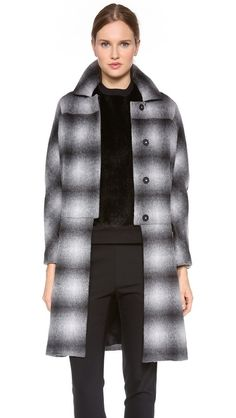 10 Crosby Derek Lam Oversized Plaid Duster Coat